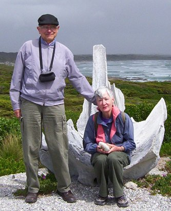 Me and my wife Sigrid on King Island